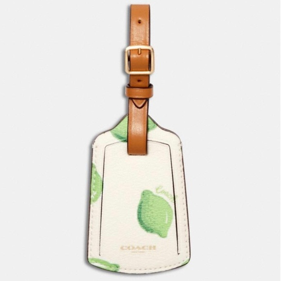 Coach Luggage Tag With Lime Print NWT